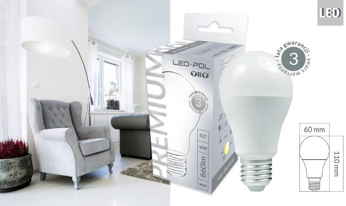Nowa seria żarówek PREMIUM LED-POL z 3 letnią gwarancją